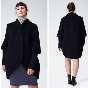 Universal Standard Talfer cocoon coat alpaca wool